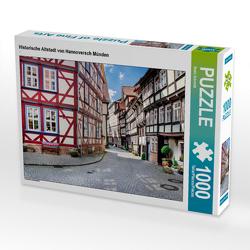 CALVENDO Puzzle Historische Altstadt von Hannoversch Münden 1000 Teile Lege-Größe 64 x 48 cm Foto-Puzzle Bild von Bodo Schmidt