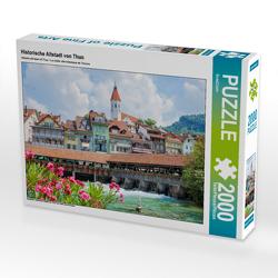 CALVENDO Puzzle Historische Altstadt von Thun 2000 Teile Lege-Größe 90 x 67 cm Foto-Puzzle Bild von SusaZoom