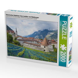 CALVENDO Puzzle Historisches Städtchen Chur inmitten von Weinbergen 2000 Teile Lege-Größe 90 x 67 cm Foto-Puzzle Bild von SusaZoom