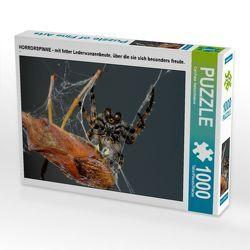 CALVENDO Puzzle HORRORSPINNE – mit fetter Lederwanzenbeute, über die sie sich besonders freute. 1000 Teile Lege-Größe 64 x 48 cm Foto-Puzzle Bild von Carl-Peter Herbolzheimer von Herbolzheimer,  Carl-Peter