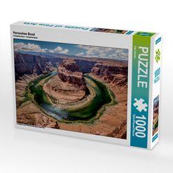 CALVENDO Puzzle Horseshoe Bend 1000 Teile Lege-Größe 64 x 48 cm Foto-Puzzle Bild von Karl Genser von Genser,  Karl
