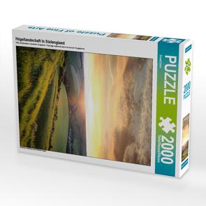 CALVENDO Puzzle Hügellandschaft in Südengland 2000 Teile Lege-Größe 67 x 90 cm Foto-Puzzle Bild von SusaZoom