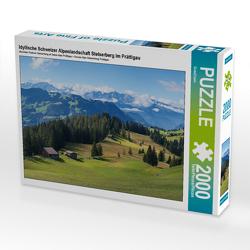 CALVENDO Puzzle Idyllische Schweizer Alpenlandschaft Stelserberg im Prättigau 2000 Teile Lege-Größe 90 x 67 cm Foto-Puzzle Bild von SusaZoom