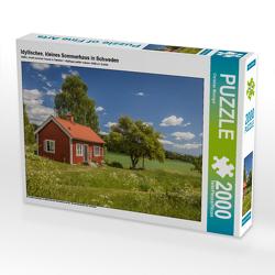 CALVENDO Puzzle Idyllisches, kleines Sommerhaus in Schweden 2000 Teile Lege-Größe 90 x 67 cm Foto-Puzzle Bild von Christian Müringer