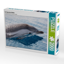 CALVENDO Puzzle Im Auge des Delfins 2000 Teile Lege-Größe 90 x 67 cm Foto-Puzzle Bild von Jörg Bouillon
