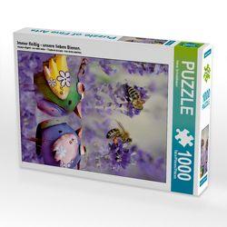 CALVENDO Puzzle Immer fleißig – unsere lieben Bienen. 1000 Teile Lege-Größe 48 x 64 cm Foto-Puzzle Bild von Heinz Schmidbauer von Schmidbauer,  Heinz