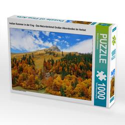 CALVENDO Puzzle Indian Summer in der Eng – Das Naturdenkmal Großer Ahornboden im Herbst 1000 Teile Lege-Größe 64 x 48 cm Foto-Puzzle Bild von Michaela Schimmack