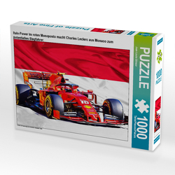 CALVENDO Puzzle Italo-Power im roten Monoposto macht Charles Leclerc aus Monaco zum potentiellen Siegfahrer. 1000 Teile Lege-Größe 64 x 48 cm Foto-Puzzle Bild von Jean-Louis Glineur