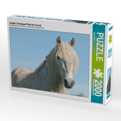 CALVENDO Puzzle Junges Camargue-Pferd im Porträt 2000 Teile Lege-Größe 90 x 67 cm Foto-Puzzle Bild von Meike Bölts