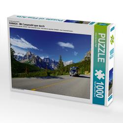 CALVENDO Puzzle KANADA – Mit Campmobil quer durch 1000 Teile Lege-Größe 64 x 48 cm Foto-Puzzle Bild von Hans-Gerhard Pfaff