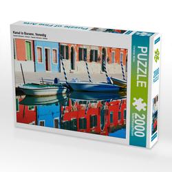 CALVENDO Puzzle Kanal in Burano, Venedig 2000 Teile Lege-Größe 90 x 67 cm Foto-Puzzle Bild von Christian Müller