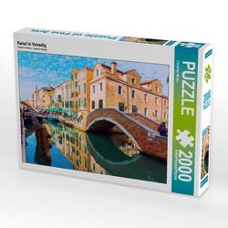 CALVENDO Puzzle Kanal in Venedig 2000 Teile Lege-Größe 90 x 67 cm Foto-Puzzle Bild von Christian Müller