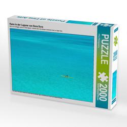 CALVENDO Puzzle Kanu in der Lagune von Bora Bora 2000 Teile Lege-Größe 90 x 67 cm Foto-Puzzle Bild von iPics Photography