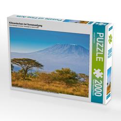 CALVENDO Puzzle Kilimandscharo bei Sonnenaufgang 2000 Teile Lege-Größe 90 x 67 cm Foto-Puzzle Bild von Jürgen Feuerer