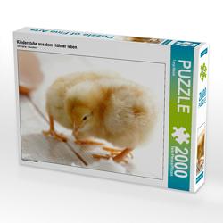 CALVENDO Puzzle Kinderstube aus dem Hühner leben 2000 Teile Lege-Größe 90 x 67 cm Foto-Puzzle Bild von Tanja Riedel