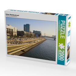 CALVENDO Puzzle Kölner Rheinboulevard 2000 Teile Lege-Größe 90 x 67 cm Foto-Puzzle Bild von Elisabeth Schittenhelm