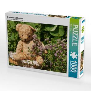 CALVENDO Puzzle Kräuterbär mit Oregano 1000 Teile Lege-Größe 64 x 48 cm Foto-Puzzle Bild von Meike Bölts