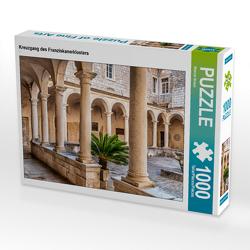 CALVENDO Puzzle Kreuzgang des Franziskanerklosters 1000 Teile Lege-Größe 64 x 48 cm Foto-Puzzle Bild von Werner Braun