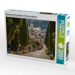 CALVENDO Puzzle Kreuzweg zum Kalvarienberg in Pollenca auf Mallorca 2000 Teile Lege-Größe 90 x 67 cm Foto-Puzzle Bild von Christian Müringer