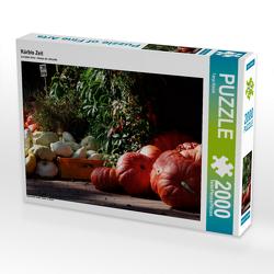 CALVENDO Puzzle Kürbis Zeit 2000 Teile Lege-Größe 90 x 67 cm Foto-Puzzle Bild von Tanja Riedel
