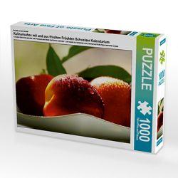 CALVENDO Puzzle Kulinarisches mit und aus frischen Früchten Schweizer Kalendarium 1000 Teile Lege-Größe 64 x 48 cm Foto-Puzzle Bild von N N von N.,  N.