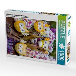 CALVENDO Puzzle Kurze Nächte – Eulen schlafen länger. 1000 Teile Lege-Größe 48 x 64 cm Foto-Puzzle Bild von Heinz Schmidbauer von Schmidbauer,  Heinz