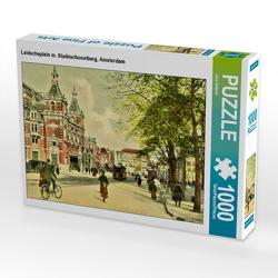 CALVENDO Puzzle Leidscheplein m. Stadsschouwburg, Amsterdam 1000 Teile Lege-Größe 64 x 48 cm Foto-Puzzle Bild von Jens Siebert
