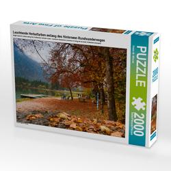 CALVENDO Puzzle Leuchtende Herbstfarben entlang des Hinterseer-Rundwanderweges 2000 Teile Lege-Größe 90 x 67 cm Foto-Puzzle Bild von Dieter-M. Wilczek