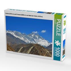 CALVENDO Puzzle Lhotse (8516 m) und Everest (8848 m) von links bei Orsho (4150 m) 1000 Teile Lege-Größe 64 x 48 cm Foto-Puzzle Bild von Ulrich Senff
