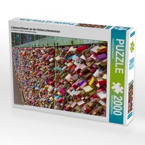 CALVENDO Puzzle Liebesschlösser an der Hohenzollernbrücke 2000 Teile Lege-Größe 90 x 67 cm Foto-Puzzle Bild von Elisabeth Schittenhelm