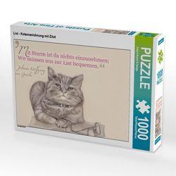 CALVENDO Puzzle List – Katzenzeichnung mit Zitat 1000 Teile Lege-Größe 64 x 48 cm Foto-Puzzle Bild von Dany's Kunst & Design von Kunst & Design,  Dany's