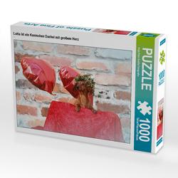 CALVENDO Puzzle Lotta ist ein Kaninchen Dackel mit großem Herz 1000 Teile Lege-Größe 64 x 48 cm Foto-Puzzle Bild von Anja Foto Grafia Fotografie