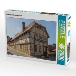 CALVENDO Puzzle Luthersche Elementarschule 2000 Teile Lege-Größe 90 x 67 cm Foto-Puzzle Bild von Rene Schubert
