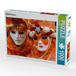 CALVENDO Puzzle Magie der Masken 1000 Teile Lege-Größe 64 x 48 cm Foto-Puzzle Bild von Udo Haafke