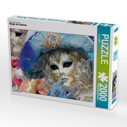CALVENDO Puzzle Magie der Masken 2000 Teile Lege-Größe 90 x 67 cm Foto-Puzzle Bild von Udo Haafke