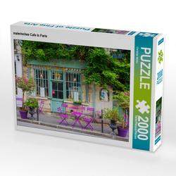 CALVENDO Puzzle malerisches Cafe in Paris 2000 Teile Lege-Größe 90 x 67 cm Foto-Puzzle Bild von Christian Müller