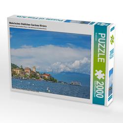 CALVENDO Puzzle Malerisches Städtchen Gardone Riviera 2000 Teile Lege-Größe 90 x 67 cm Foto-Puzzle Bild von SusaZoom