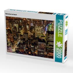 CALVENDO Puzzle Manhattan bei Nacht 2000 Teile Lege-Größe 90 x 67 cm Foto-Puzzle Bild von Christian Müller