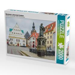 CALVENDO Puzzle Marktplatz Lutherstadt Eisleben 2000 Teile Lege-Größe 90 x 67 cm Foto-Puzzle Bild von Steffen Gierok
