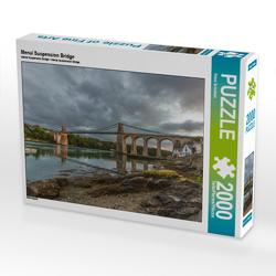 CALVENDO Puzzle Menai Suspension Bridge 2000 Teile Lege-Größe 90 x 67 cm Foto-Puzzle Bild von Rene Schubert