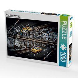 CALVENDO Puzzle Mirror Effect Polyscape 1000 Teile Lege-Größe 64 x 48 cm Foto-Puzzle Bild von Oliver Pinkoss von Pinkoss,  Oliver