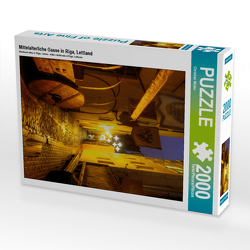 CALVENDO Puzzle Mittelalterliche Gasse in Riga, Lettland 2000 Teile Lege-Größe 67 x 90 cm Foto-Puzzle Bild von Christian Müller