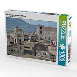 CALVENDO Puzzle Mittelalterliche Mauern und Türme 1000 Teile Lege-Größe 64 x 48 cm Foto-Puzzle Bild von Florian Fritz