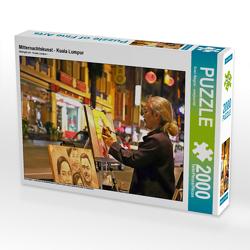 CALVENDO Puzzle Mitternachtskunst – Kuala Lumpur 2000 Teile Lege-Größe 90 x 67 cm Foto-Puzzle Bild von Sven Wagner – svwjournal