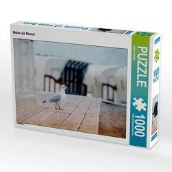 CALVENDO Puzzle Möwe am Strand 1000 Teile Lege-Größe 64 x 48 cm Foto-Puzzle Bild von Heike Hultsch von Hultsch,  Heike