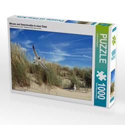 CALVENDO Puzzle Möwen und Seeschwalbe in einer Düne 1000 Teile Lege-Größe 64 x 48 cm Foto-Puzzle Bild von Susanne Herppich