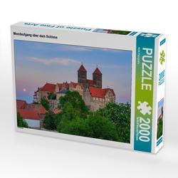 CALVENDO Puzzle Mondaufgang über dem Schloss 2000 Teile Lege-Größe 90 x 67 cm Foto-Puzzle Bild von ReDi Fotografie