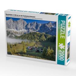 CALVENDO Puzzle Neustattalm (1.530 m) vor der Dachstein-Südwand 2000 Teile Lege-Größe 90 x 67 cm Foto-Puzzle Bild von Christian Müringer