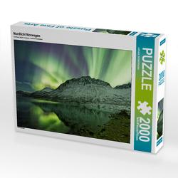 CALVENDO Puzzle Nordlicht Norwegen 2000 Teile Lege-Größe 90 x 67 cm Foto-Puzzle Bild von Johann Schörkhuber
