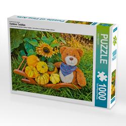 CALVENDO Puzzle Outdoor Teddies 1000 Teile Lege-Größe 64 x 48 cm Foto-Puzzle Bild von Karin Sigwarth